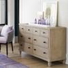 "Antibes Oak Wood 6 Drawers Dresser 58"""