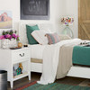 Boho Chic Carved Headboard White Queen Beds