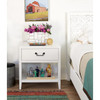 Boho Chic Modern 1-Drawer Nightstand with Charging Station