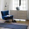 Everette Accent Chair - Sapphire Velvet Midnight Blue