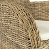Rene Coastal Wicker Dining Armchair with Cushion