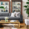 """Grammercy Modern Charcoal Small Sofa 72"""""""