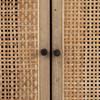 """Audrey Woven 4 Door Sideboard 72""""- Black"""