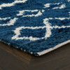 Bohemian Prussian Blue Shag Area Rugs