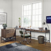 Fulton Industrial Modular Corner Desk with File Cabinet,UFUL-038