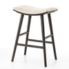 Saddle Mid-Century Oak Counter Stool