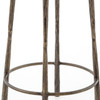 IELE-94,WESTWOOD BAR + COUNTER STOOL, Aged Brass