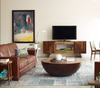 Larkin 3 Seater contemporary leather sofa