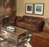 Larkin 2 Seater Contemporary Leather Sofa furniture