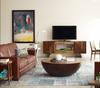 Larkin 2 Seater distressed leather sofa