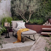 Dimitri Teak Wood Charcoal Outdoor Chaise Lounge Daybed