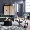 Arnett Modern Cream Bouclé Accent Chair