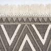 Dhurrie Grey & Cream Diamond Flatweave Area Rugs