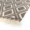 Dhurrie Grey & Cream Diamond Flatweave Area Rugs