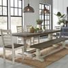 "Coastal Farmhouse Reclaimed Wood Double Trestle Table 94"""