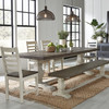 Coastal Farmhouse Reclaimed Wood Dining Chair