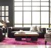 Nolita Reverse Stitch Saddle Black top grain leather sofa