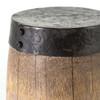 Pierce Wood and Metal Drum End Table