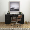 Ivy French Library Executive Desk- Matte Black, CIRD-476