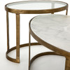 Calder Oval Marble Nesting Coffee Table 38""
