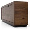 Couric Spalted Alder Wood 4 Door Large Sideboard,UWES-057A