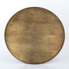 "Industrial Spider Leg Brass Clad Round Dining Table 60"",CIMP-168"