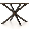 Industrial Spider Leg Brown Oak Top Round Dining Table 60""