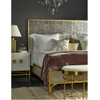 Tracey Boyd, Gilded Star Mirrored + Gold Metal Queen Bed Frame