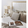 Gilded Star Mirror + Gold Metal King Bed Frame