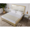 Tracey Boyd, Gilded Star Mirrored + Gold Metal King Bed Frame