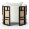 June Cream Linen Cane Back Lounge Chair