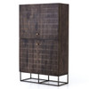 Kelby Wood and Iron 2 Door Tall Storage Cabinet Armoire