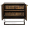 Kelby Wood and Iron 2 Door Cabinet Nightstand,IFAL-066
