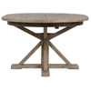 """Cintra Reclaimed Wood Extending Round Kitchen Table 47"""",VCID-17-58"""