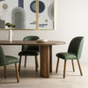 Aubree Modern Sage Green Leather Dining Chair