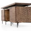 "Raffael Hand Carved Wood Executive Desk 71"""