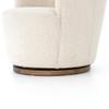 Aurora White Bouclé Swivel Chair