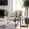 Kenzie Umber Cream Leather Club Chair,CPRL-01473-161