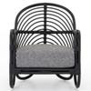 Marina Woven Ebony Rattan Chair - Graphite,223074-005