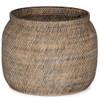 Ansel Lombok Weave Contrast Black Basket Planter