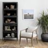 Aviva Industrial Iron + Glass Barrister Cabinet Bookcase