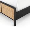 Sydney Woven Cane King Platform Bed - Black