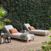 Remi Grey Woven Rope Outdoor Chaise Lounge
