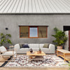 Gwen Channel Tufted Outdoor Sectional Corner Chair