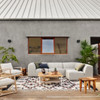 Gwen Channel Tufted Outdoor Sectional Armless Chair