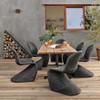 "Oran Live Edge Teak Top Outdoor Dining Table 84"""