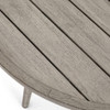 Sana Grey Teak Top Round Outdoor Coffee Table 36""