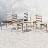 Linnet Brown Teak Outdoor Dining Chairs