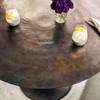 """Simone Antique Rustic Aluminum Round Bistro Table 42"""""""