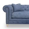 "Warner Blue Denim Chesterfield Sofa 96"""